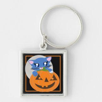 Skye Pumpkin Toon Kitten Full Moon Keychain