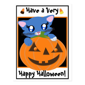Skye PumpKin Toon Kitten Postcard