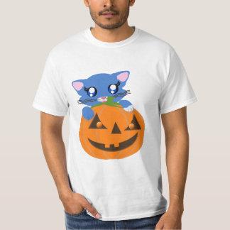 Skye Pumpkin Toon Kitty Basic Shirt