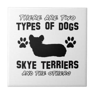 Skye Terrier dog breed designs Tiles