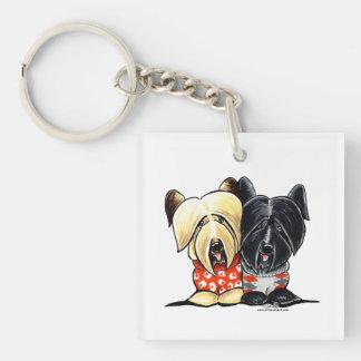 Skye Terrier Sweaters Square Acrylic Key Chain