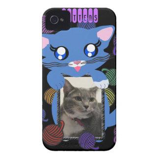 Skye Toon Kitten Mittens Frame BB Case iPhone 4 Cover