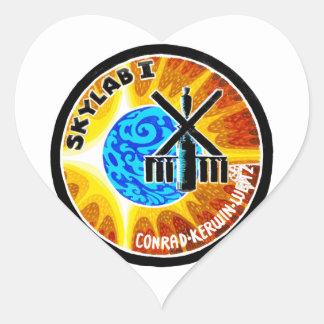 Skylab 1 Mission Patch Heart Sticker