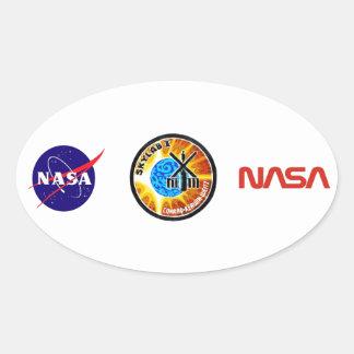Skylab 1 Mission Patch Oval Sticker