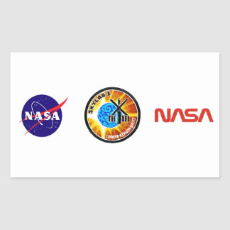 Skylab 1 Mission Patch Rectangular Sticker