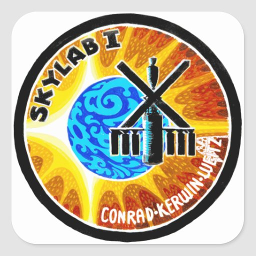 Skylab 1 Mission Patch Square Stickers