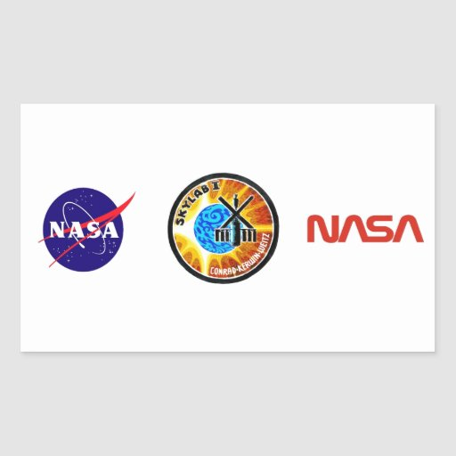 Skylab 1 Mission Patch Rectangle Stickers