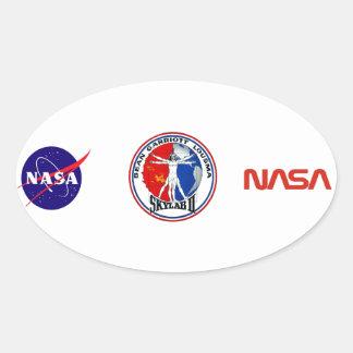 Skylab 2 Mission Patch Oval Sticker