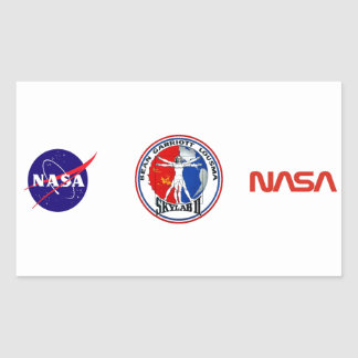 Skylab 2 Mission Patch Rectangular Sticker