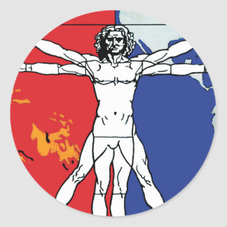 Skylab 2 Vitruvian Man Mission Patch Logo Round Sticker