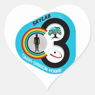 Skylab 3 Mission Patch Heart Sticker