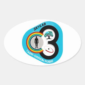 Skylab 3 Mission Patch Oval Sticker