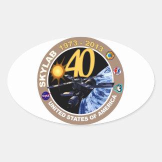 SKYLAB:  40th Anniversary Logo! Oval Sticker