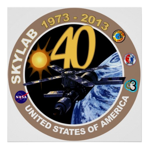 SKYLAB:  40th Anniversary Logo! Print