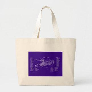 Skylab blueprint jumbo tote bag