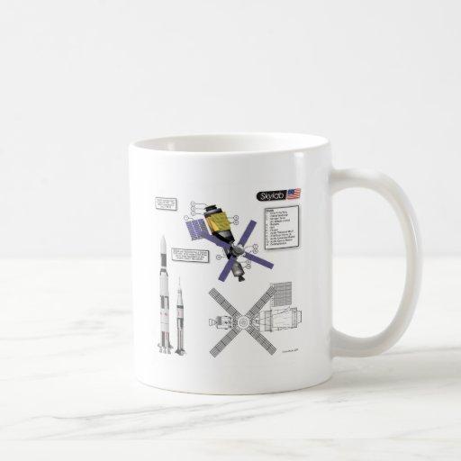 Skylab Illustration Coffee Mugs
