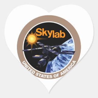 Skylab Program Logo Heart Sticker