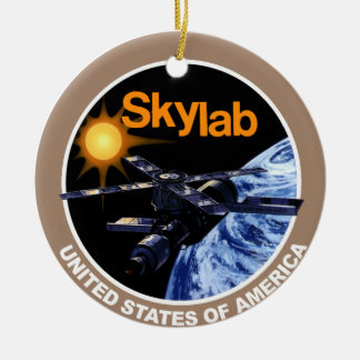 SKYLAB Program Logo Round Ceramic Decoration