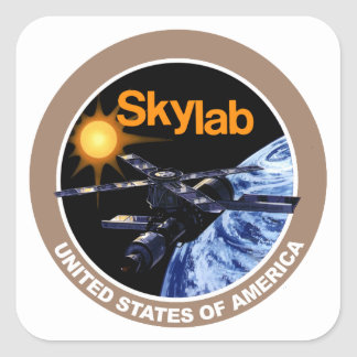 Skylab Program Logo Square Sticker