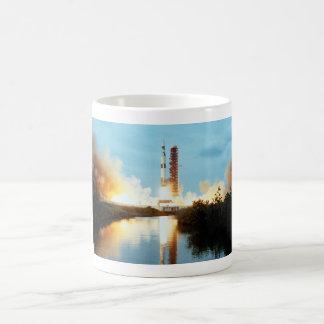 Skylab Space Station - Saturn V Launch Basic White Mug