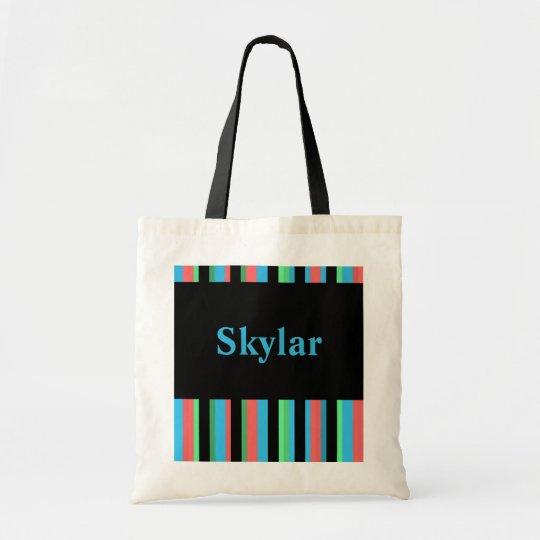 Skylar Pretty Striped Tote Bag