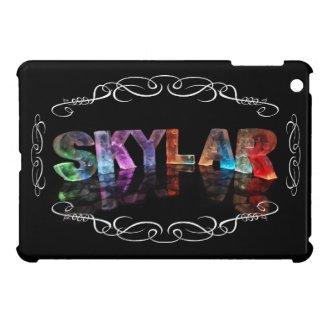Skylar - The Name Skylar in 3D Lights (Photograph Case For iPad Mini