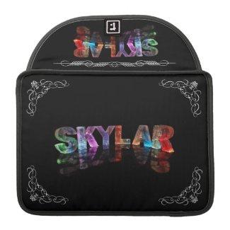 Skylar - The Name Skylar in 3D Lights (Photograph MacBook Pro Sleeve