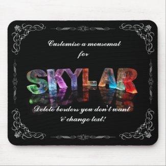 Skylar - The Name Skylar in 3D Lights (Photograph Mousepads