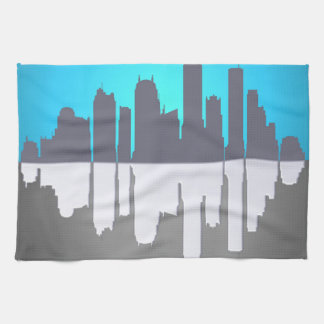 Skyline abstract. tea towel