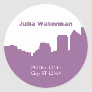Skyline Address Label Sticker