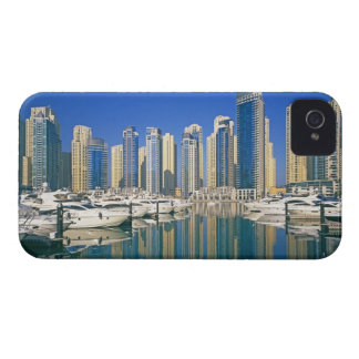 Skyline and boats on Dubai Marina iPhone 4 Cases