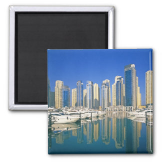 Skyline and boats on Dubai Marina Square Magnet