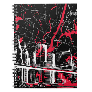 Skyline and New York Map Note Books