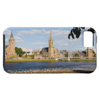 Skyline and river of quaint town of Inverness iPhone 5 Covers