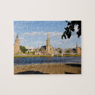 Skyline and river of quaint town of Inverness Jigsaw Puzzle