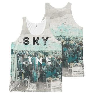 Skyline Art All-Over Print Tank Top