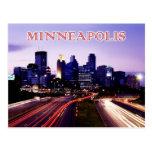 Skyline at dusk, Minneapolis, Minnesota Postcard