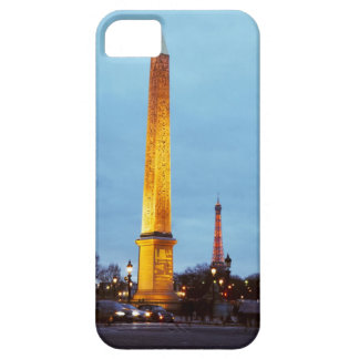 Skyline at dusk of 'Place de la Concorde' with Case For The iPhone 5