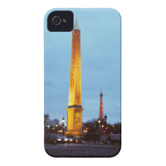Skyline at dusk of 'Place de la Concorde' with iPhone 4 Case-Mate Case
