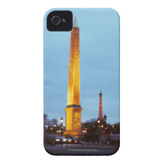 Skyline at dusk of 'Place de la Concorde' with iPhone 4 Case-Mate Cases