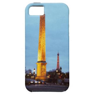 Skyline at dusk of 'Place de la Concorde' with iPhone 5 Case
