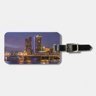 Skyline At Dusk, On The Grand River Luggage Tag