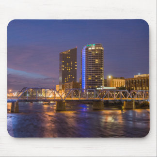 Skyline At Dusk, On The Grand River Mouse Mat