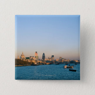 Skyline at Sunset 15 Cm Square Badge