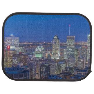 Skyline at twilight 2 car mat