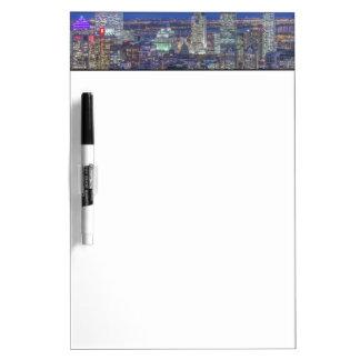 Skyline at twilight 2 dry erase white board