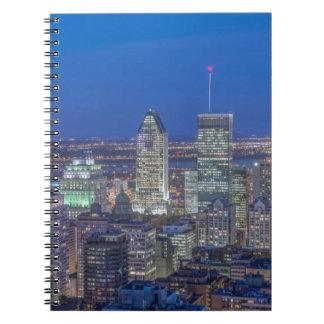 Skyline at twilight 2 notebooks