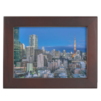 Skyline at twilight keepsake box