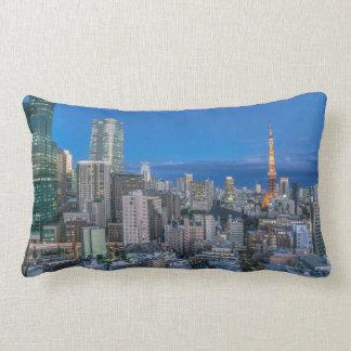 Skyline at twilight lumbar pillow