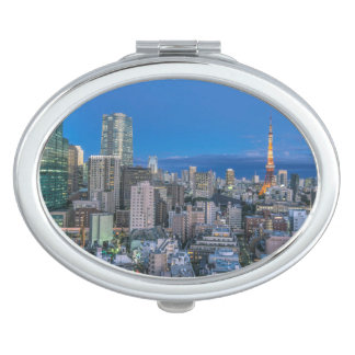 Skyline at twilight makeup mirror